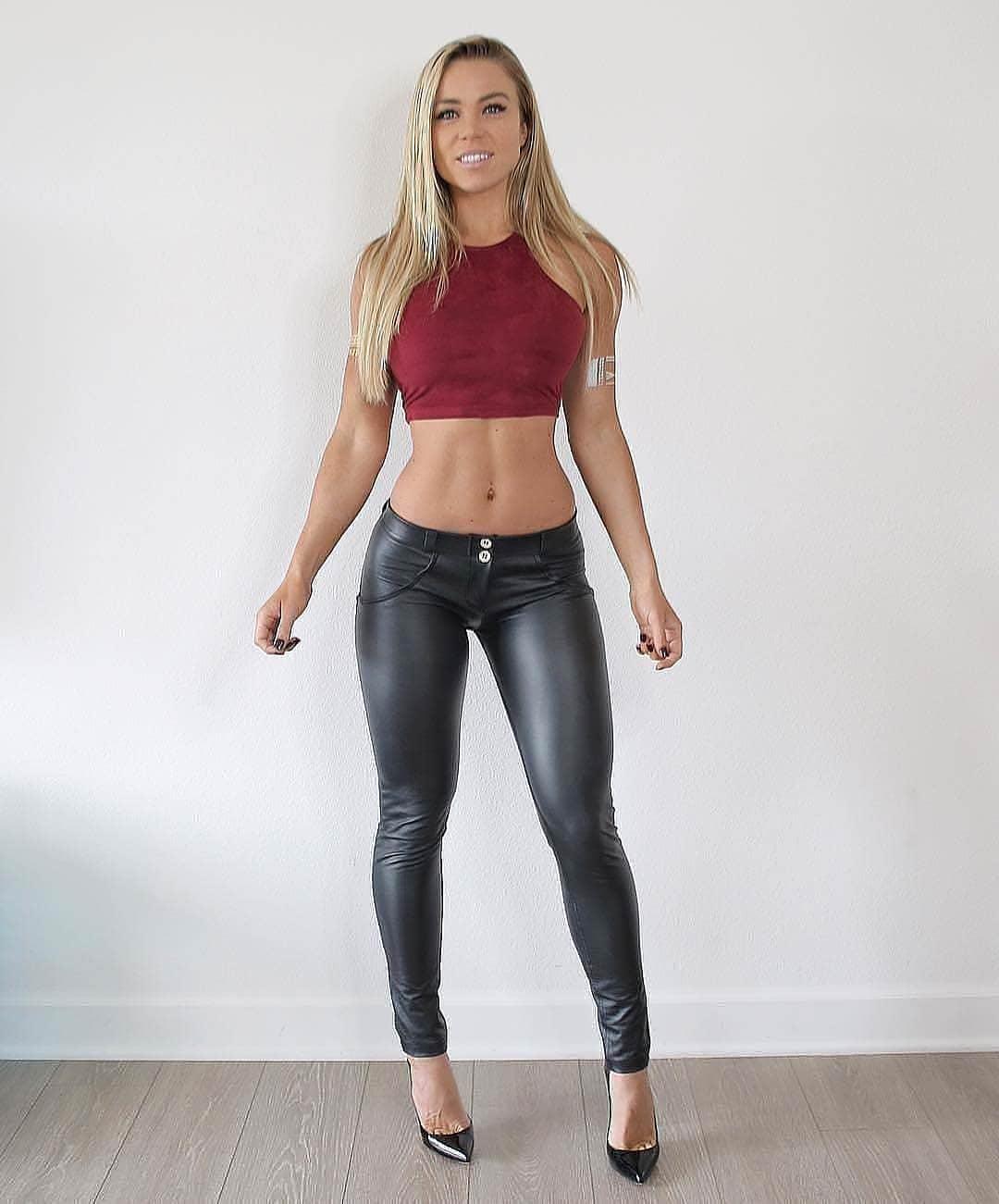 Shiny leggings fuck