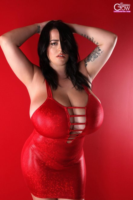 Leanne Crow in a tight red dress Porn Photo