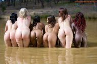 Six wet women