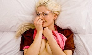 amateur photo Bashful blonde