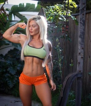 amateur photo Showing Of Her Muscles