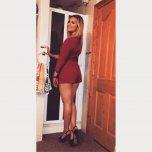 amateur photo British beauty in a short dress