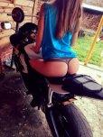 amateur photo On a bike