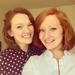 amateur photo Ginger twin sisters