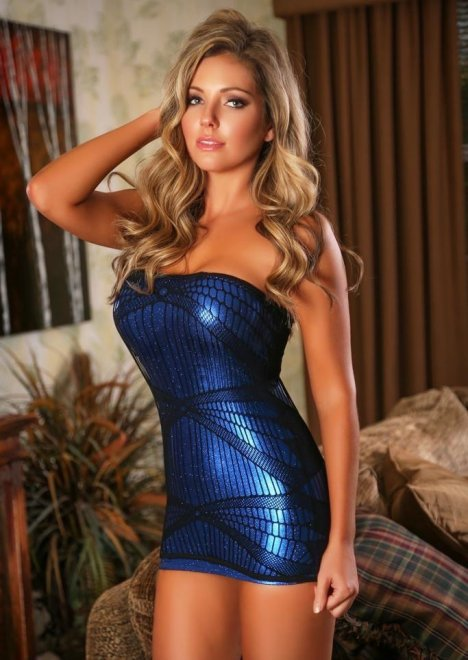 Little Blue Dress Porn Photo