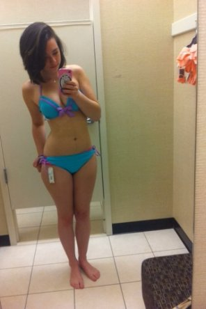 amateur photo Trying on a bikini