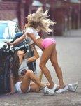 amateur photo Pink shorts
