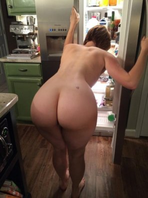 amateur photo Checking the fridge