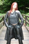 amateur photo Sexy Redhead in Leather