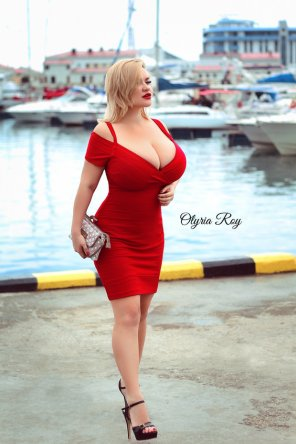amateur photo Red Dress Down By The Docks