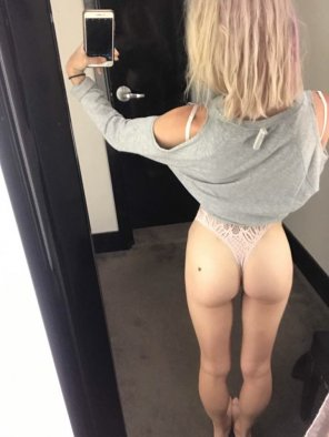 amateur photo Trying on some clothes, specifically this sexy bodysuit.