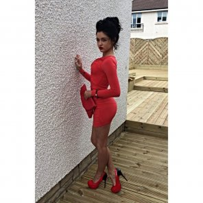 amateur photo High heels and red dress