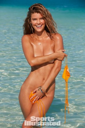 amateur photo Nina Agdal looking modest and shy