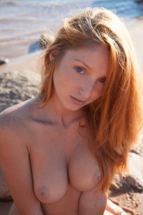 amateur photo Blue eyed pale ginger