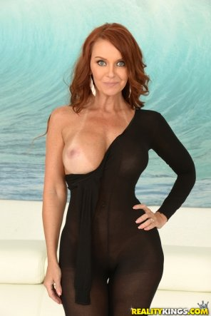 amateur photo Janet Mason. Lovely red-headed milf.