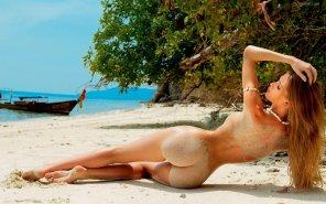 amateur photo Carolina Ardohain - Argentine model