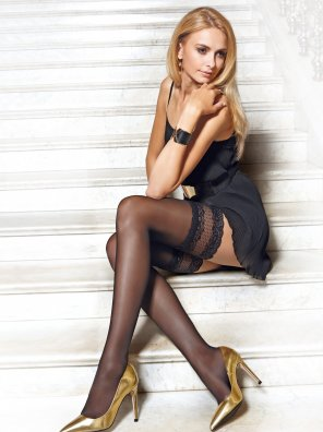 amateur photo Conte Flame Fantasy Stockings and Black Dress