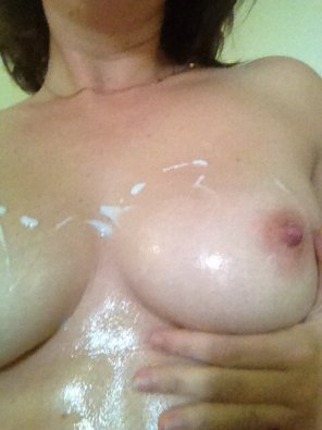 amateur photo She lotions...