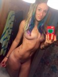 amateur photo Babe with colorful hair