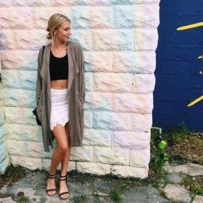 amateur photo White skirt
