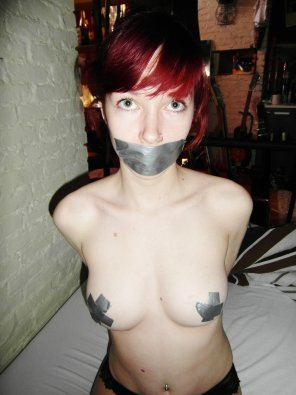 amateur photo Duct tape pasties