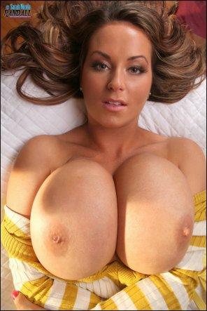 amateur photo Sarah Nicola Randall's epic tits