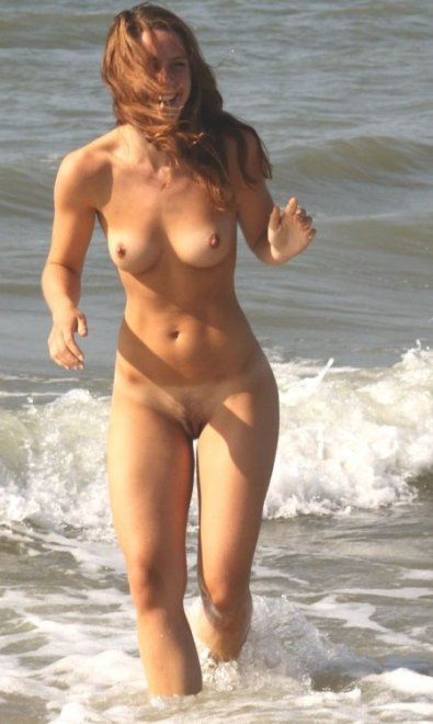 Happy at the beach Porn Photo