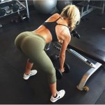 amateur photo One armed bent over rows