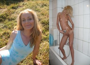 amateur photo BLonde MILF gets naked