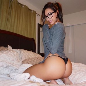 amateur photo Great in glasses