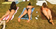 Now THIS is my kind of picnic! 3 thick, wonderful asses