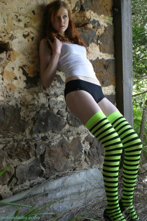 amateur photo Green and black striped