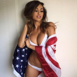 amateur photo Wrapped in the flag