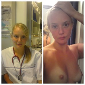 amateur photo Blonde Nurse