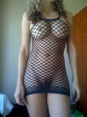 amateur photo Caught in the fishnet