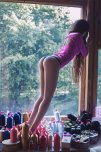 amateur photo Tiptoe by the window