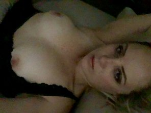 amateur photo Boobs in bed :)