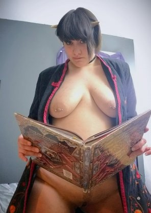 amateur photo Studying to be a better monster girl [f]