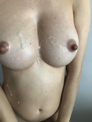 amateur photo My girl's tits painted white [OC]