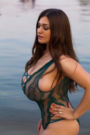 amateur photo Strong swimsuit