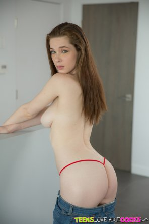 amateur photo Penny Brooks in red