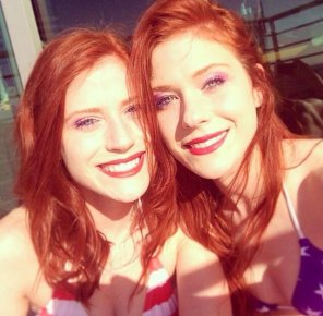 amateur photo Twins with red hair