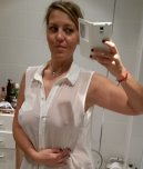 amateur photo Thin shirt milf selfie