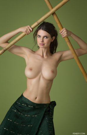 amateur photo Boobs and bamboo