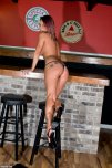 amateur photo Nikki Sims in the bar