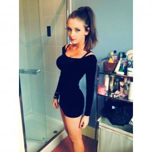 amateur photo Little black dress