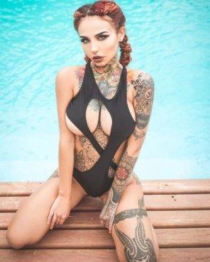 amateur photo Asymmetric swimwear