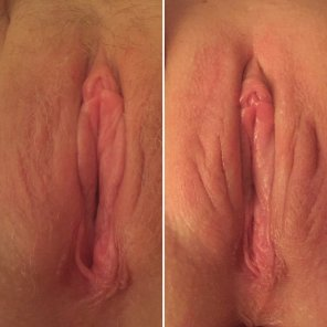 amateur photo My Wife - A different kind of On/Off pic. Before and after her monthly waxing