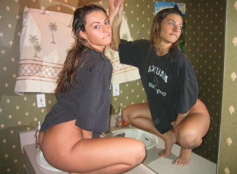 naked amateur teen squat