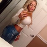 amateur photo White top and blue jeans